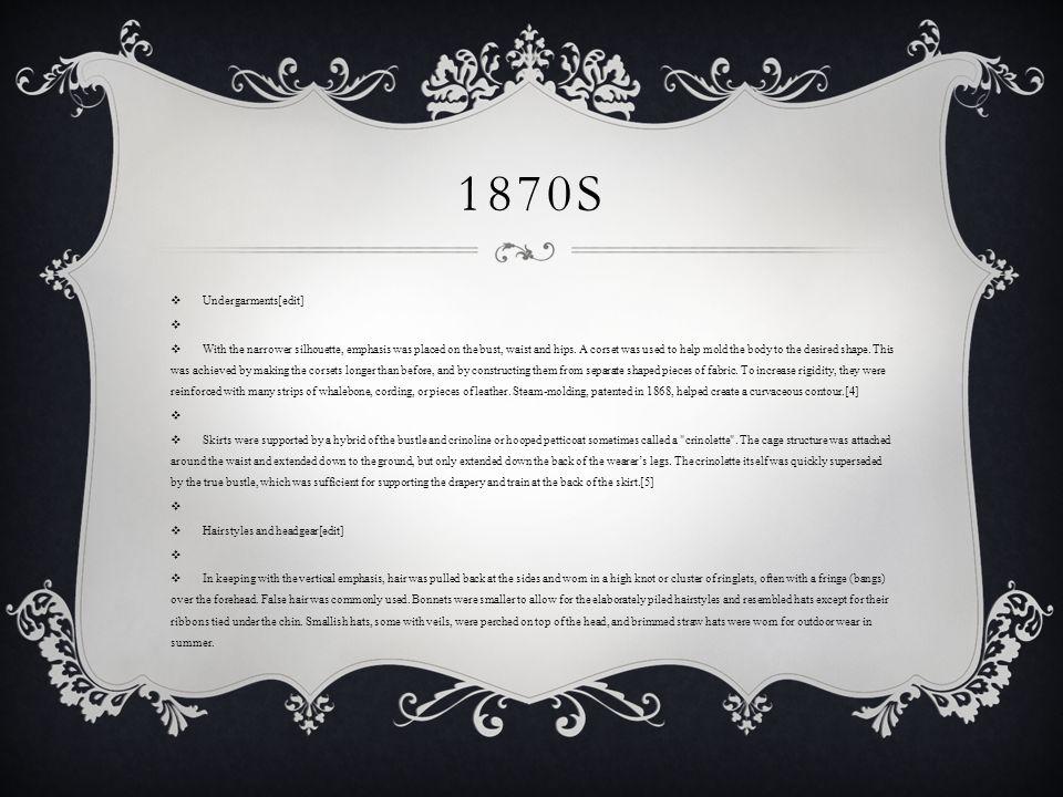 1870s Undergarments[edit]